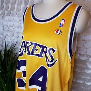 Champion Other - Rare O Neal LAKERS Vtg Champion Jersey Yellow 44 8a9ac160e